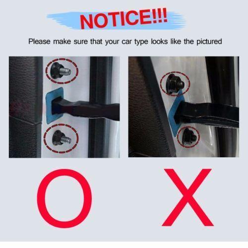 OEM Genuine Door Checkers Striker Cover 8Pcs for HYUNDAI 2012-2017 i40