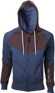 L Cappuccio Hoodie With Blue Con Assassin's Creed Felpa Unity Brown Print Uomo Uwa7PqFz