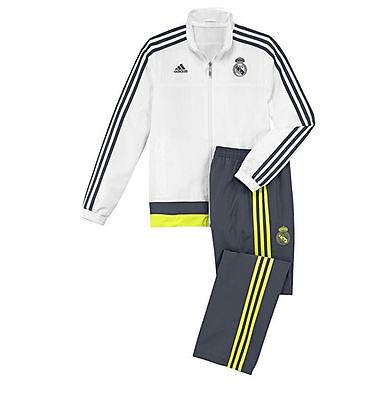 Umile Real Madrid Adidas Ragazzi Tuta Presentazione Età 7-8 9-10 11-12 13-14 15-16-mostra Il Titolo Originale Squisita Arte Tradizionale Del Ricamo