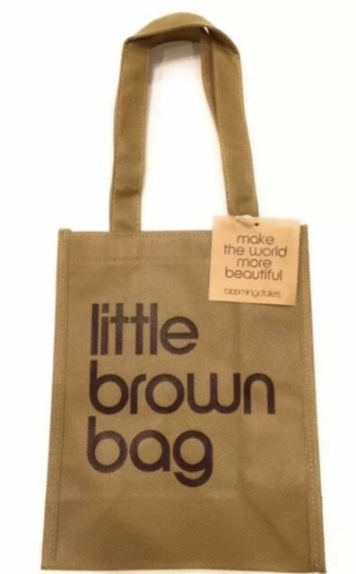 Nwt Bloomingdales Little Brown Reusable Bag Free Shipping