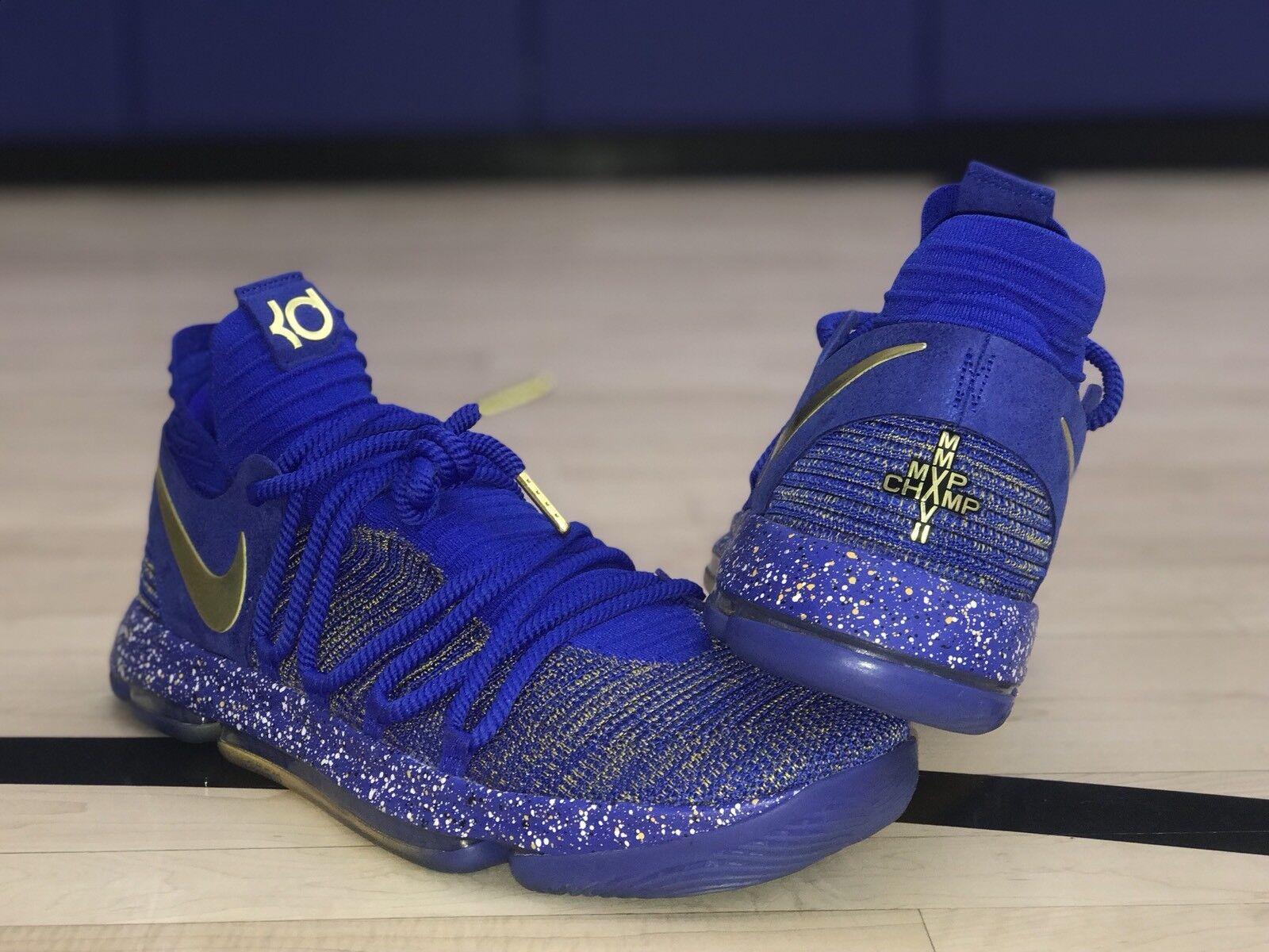 Nike Zoom KD X 10 Finals MVP PE 897815-403 Durant GSW QS PE SIZE 16