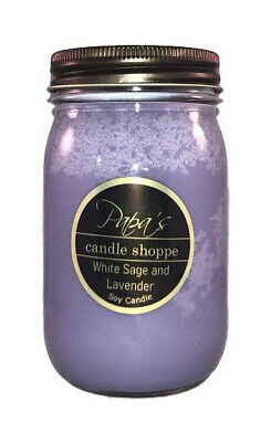 Highly Scented Soy Candles Papa/'s Candle Shoppe Christmas Tree 16oz Mason Jar!