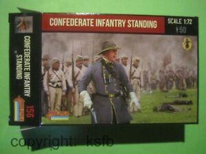 1-72-Strelets-156-US-Buergerkrieg-Suedstaaten-Soldaten-wartend-stehend-Photograf