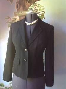 Jones New York Women's Black Pinstripe Blazer Suit Jacket SZ 4