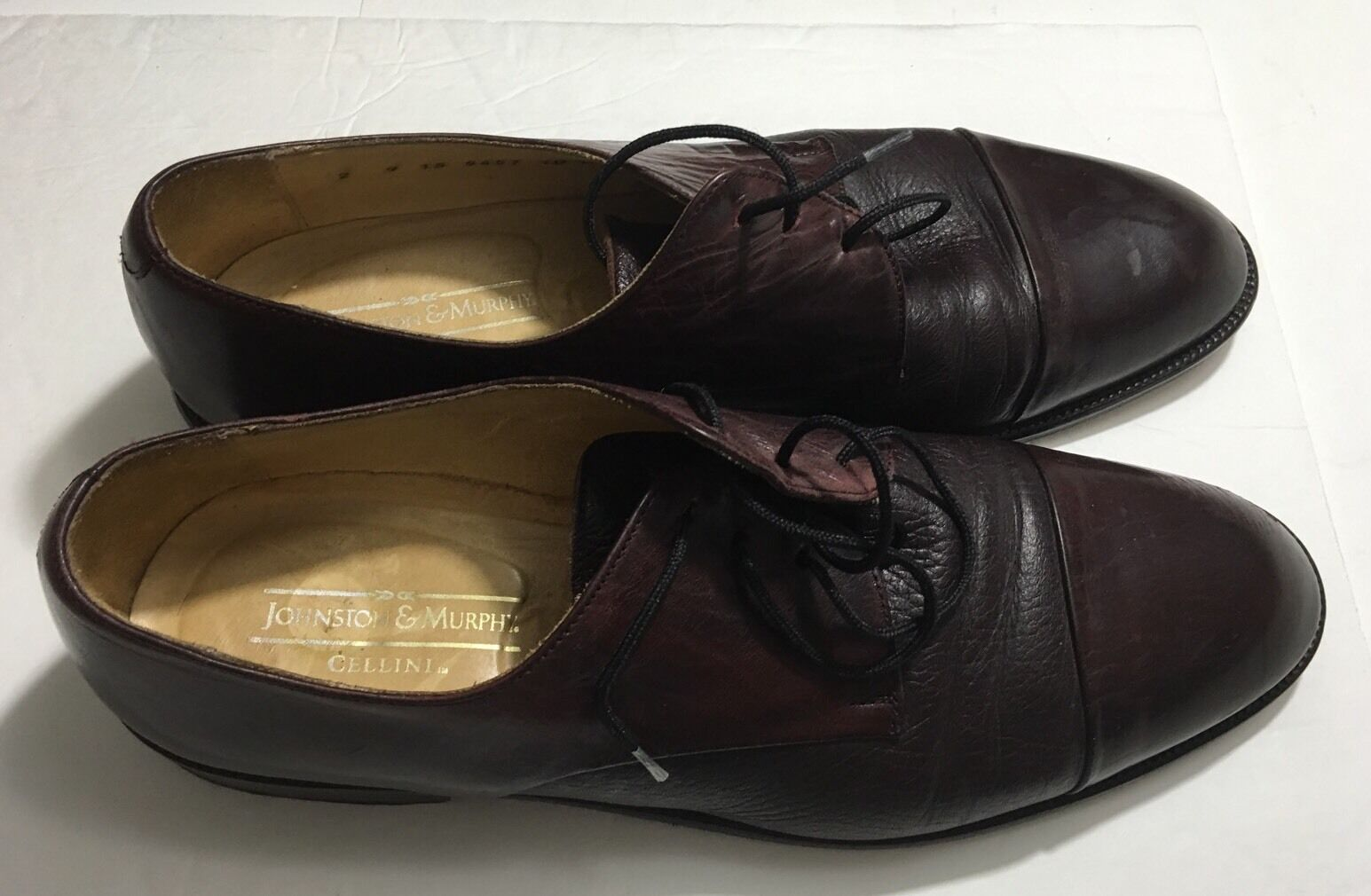 Johnston & Murphy Brown Leather Cellini  Men's Sz 10 Made in