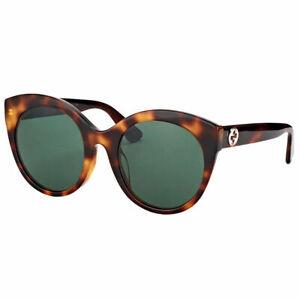 6770a53883 Image is loading Gucci-GG0028S-002-Shiny-Dark-Havana-Plastic-Sunglasses-