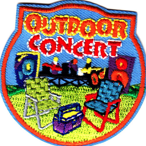 "Orchestra /""OUTDOOR CONCERT/"" PATCH// Iron On Embroidered  Patch//Band Music"