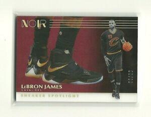 2019-20 Panini Noir LEBRON JAMES SP Sneaker Spotlight Insert #d 63/99 -Cavaliers