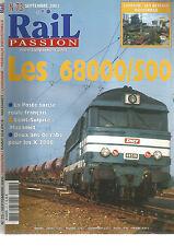 RAIL PASSION N°73 LES 68000/500 / LORRAINE : RESEAUX INDUSTRIELS / POSTE SUISSE