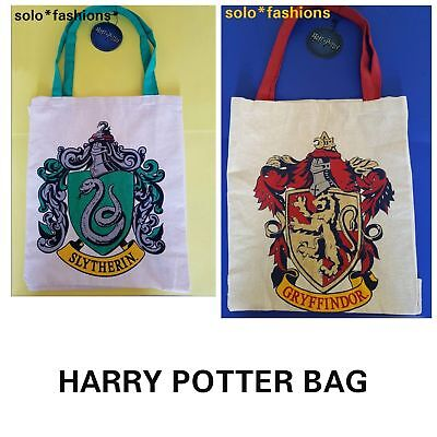 Brand New PRIMARK HARRY POTTER HOUSE TEAM INITIAL CANVAS TOTE SHOPPING BAG