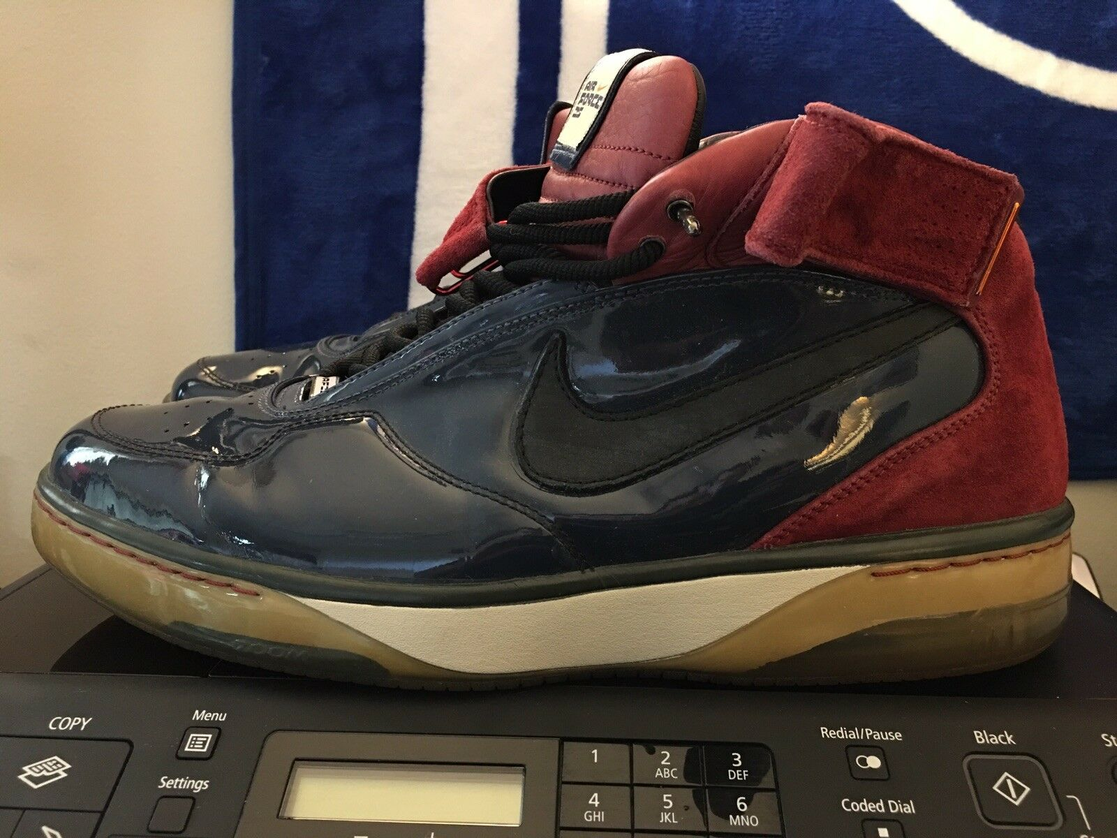 Nike Air force 25 AF25, 316881-401, Navy Maroon, Men's Basketball shoes, Size 14