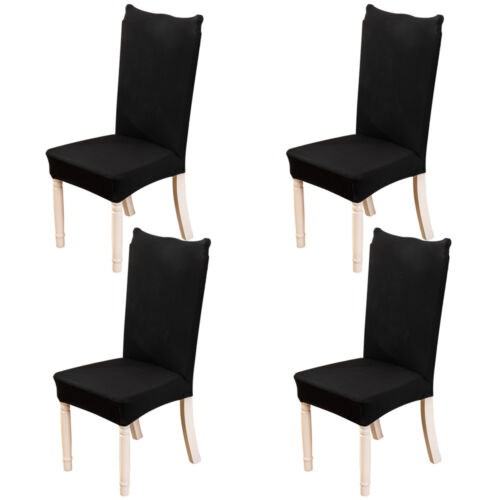 4pcs//set Spandex Stretch Chair Cover Banquet Party Decor Dining Room Seat Covers
