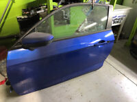 2016 Honda Civic Coupe Left Driver Side Blue Door Complete Mississauga / Peel Region Toronto (GTA) Preview