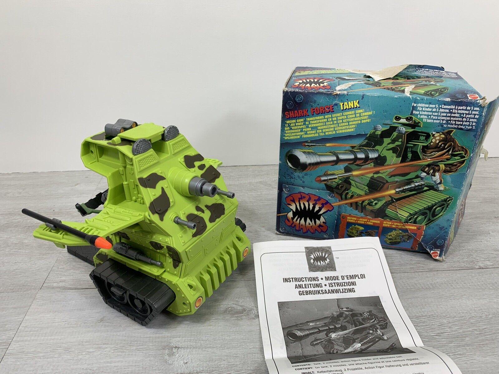 STREET SQUALI SHARK forza serbatoio con scatola e istruzioni Mattel 1995 in buonissima condizione
