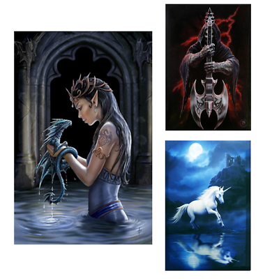 Large Protector Canvas Picture By Anne Stokes 50cm x 70cm Plaque Wall Art