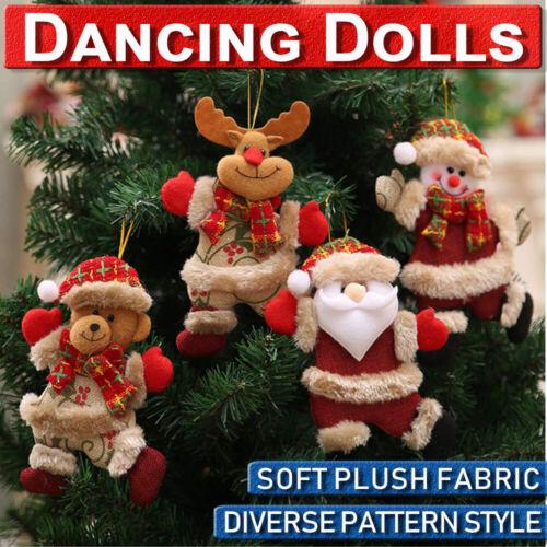 1-8pcs Christmas Ornaments Santa Claus Snowman Reindeer Toy Doll Hang Decoration
