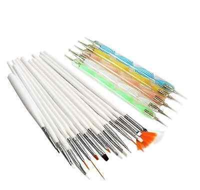 20pcs Nail Art Designing Painting Dotting Drawing Dot Pen Brushes Tool Kit Set