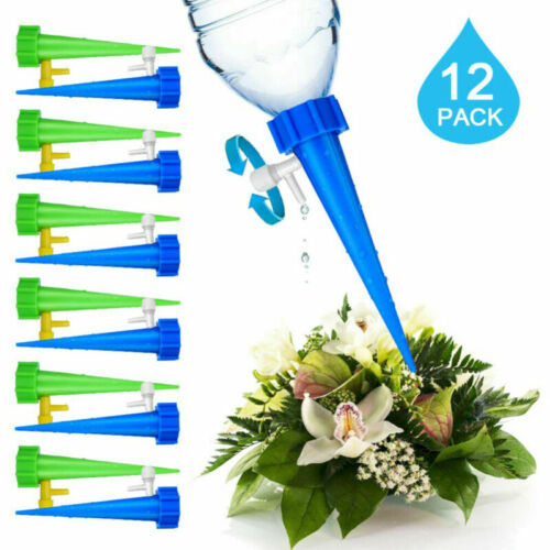 12 piece of Plant Water Control Drip Cone Spike Waterer Bottle Irrigation System