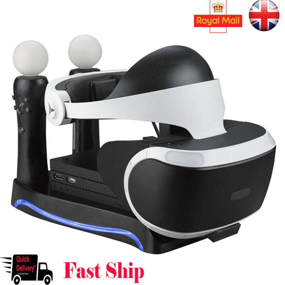 Charging Dock Charger Station Stand Holder For PS4 VR II PS Move Game Controller