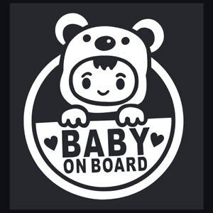 Baby-On-Board-Decals-Car-Bumper-Window-PVC-Vinyl-Decal-Sticker-Truck-Waterproof