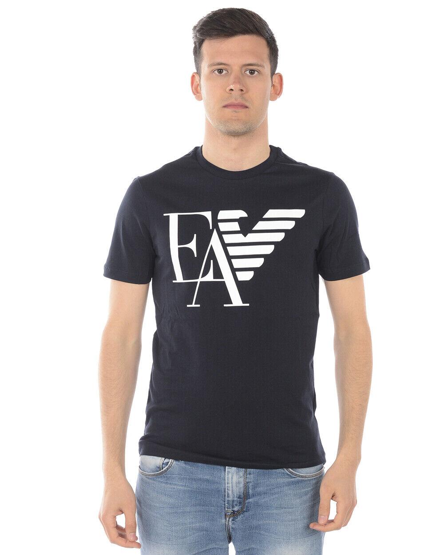 Emporio Armani T Shirt Sweatshirt Man Blau 3G1TA9 1J00Z 922 Sz. M PUT OFFER