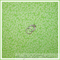 Boneful Fabric Fq Cotton Quilt Lime Green Gold Glitter Scroll Swirl Xmas Calico