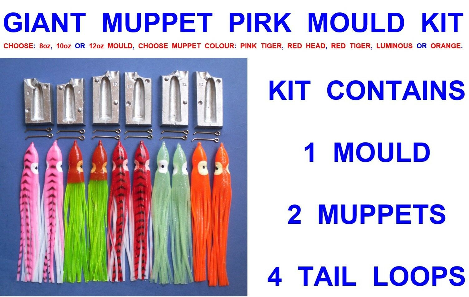 8oz muppet mould include 2 free muppets.