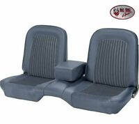 1968 Ford Mustang Fastback Front And Rear Bench Seat Upholstery Blue By Tmi