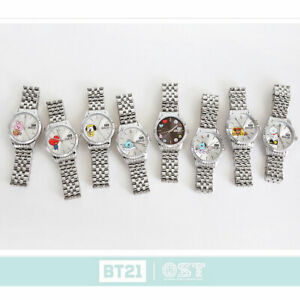 BTS-BT21-Official-Authentic-Goods-Silver-Metal-Watch-Ver-1-by-OST-Tracking-Num