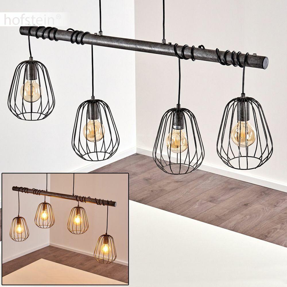 Hänge Lampen Retro Ess Wohn Schlaf Zimmer Beleuchtung silberne Pendel Leuchten