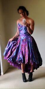 rare-vintage-80-039-s-collectable-STUDIBAKER-HAWK-Formal-Cocktail-Gown-Dress-Size10