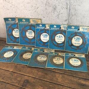 Vintage-Shimano-Sprocket-Skip-Tooth-Freewheel-10x-Lot-NOS-19-20-21-26-27-32-34