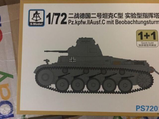 1/72 WW2 German Panzer II C Tank kit / 2 in a box Kit