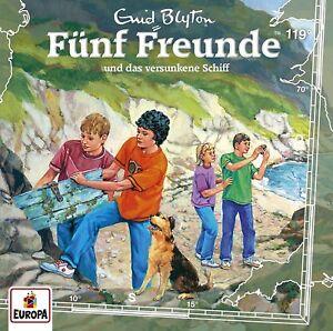 FUNF-FREUNDE-119-UND-DAS-VERSUNKENE-SCHIFF-CD-NEU