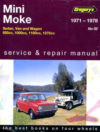 MINI MOKE SHOP MANUAL SERVICE REPAIR WORKSHOP BOOK GREGORY AUSTIN MORRIS
