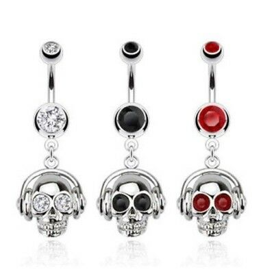 GEM DREAMCATCHER TRIPLE FEATHER BELLY NAVEL RING DANGLE BUTTON PIERCING JEWELRY