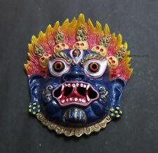 M401 Protector Mahakala Bhairav Wall Hanging Buddhist Hindu MASK NEPAL Tibet
