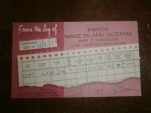 carte QSL ancienne WAKE ISLAND Islande Océanie 1956 9rsdAsVW-09091147-785377505