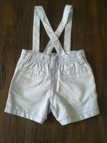 BABY BOYS 3-6mo GYMBOREE Light Blue shorts overall