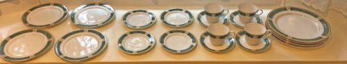 Nikko Crown Jewel China 20 Pieces Emerald Green