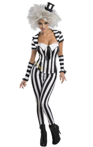Licensed Mrs Beetlejuice Outfit Fancy Dress Party Dress Halloween Costume