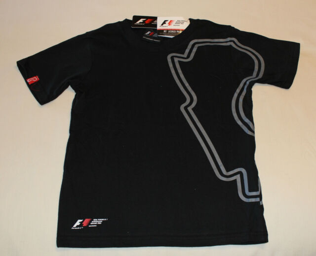 2016 Formula 1 Australian Grand Prix Boys Black Track Map T Shirt Size 10 New