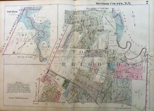 1924 Spencerport Ogden Monroe County New York Fairfield Cemetery ATLAS MAP Reproduction