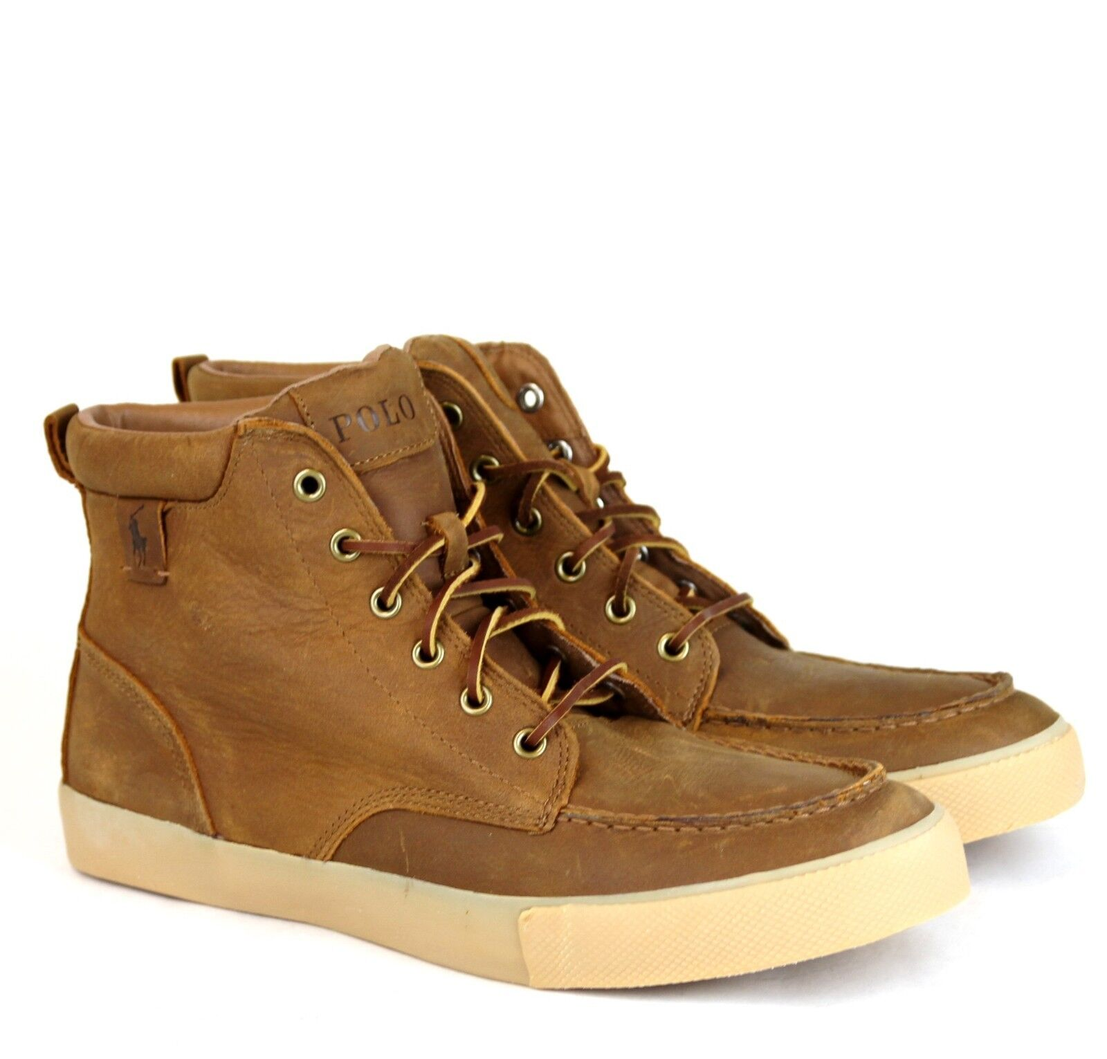 sale retailer 638e3 4081f ... New Authentic Ralph Polo Ralph Authentic Lauren Tedd Pelle High Top  Scarpe da Ginnastica w  ...