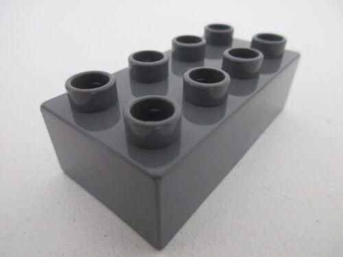 LEGO DUPLO 3011 Dark Bluish Gray Gris Foncé x1 Brique Brick 2x4