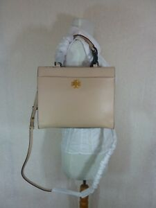 8c94787e7f46 Image is loading Tory-Burch-Perfect-Sand-Leather-Small-KIRA-Tote-