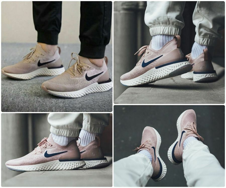 MENS NIKE EPIC REACT FLYKNIT ,,DIFFUSED TAUPE'' SIZE 8.5 43 (AQ0067 201)