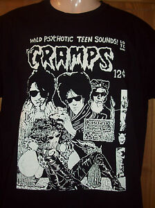 MENS-PUNK-T-SHIRT-THE-CRAMPS-IN-BLACK-S-M-L-XL-XXL