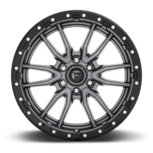 "20x9 Fuel D680 Rebel Gray Wheels Rims 33"" AT Tires Package 5x150 Toyota Tundra"