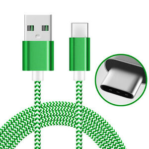 AMZER-Green-1M-High-Speed-Tangle-Free-USB-Type-C-Data-Sync-Charging-Braid-Cable